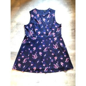Roz & Ali floral pattern sleeveless dress sz 24